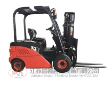 Four wheel balance weight type electric fork lift truck