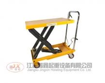 Manual hydraulic lifting platform vehicle